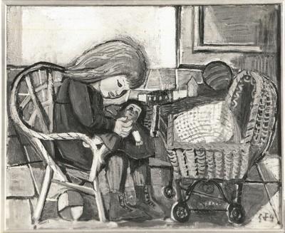 Spielendes Kind mit Puppe