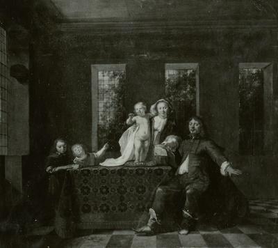 Gruppenbildnis mit fünf Personen