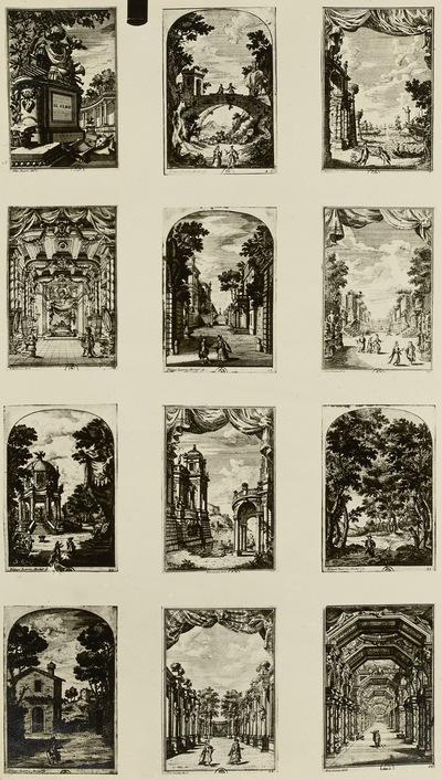 Szenerien für Bühnenbilder I, 12 Blatt
