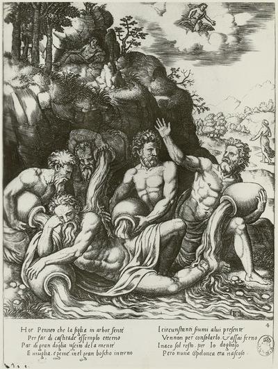 Flußgötter trösten den Flußgott Perseus über den Verlust seiner Tochter