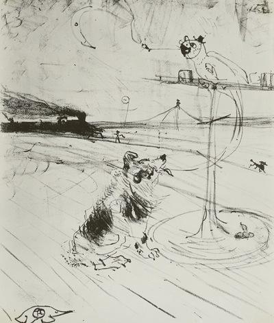 Der Hund, der Papagei und die Eisenbahn (Le Chien et le Perraquet - Fantasie)