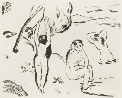 Drei badende Frauen
