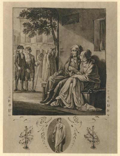 Illlustration zu Johann Wolfgang von Goethe: Hermann und Dorothea