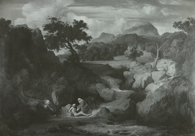 Landschaft mit dem barmherzigen Samariter