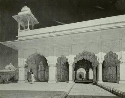 Thronsaal der Großmogule. Studie von der Reise nach Indien