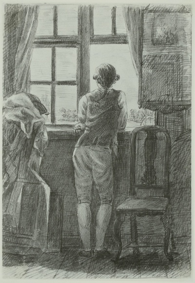 Image from object titled Junger Mann am Fenster