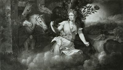 Eine Hore mit dem Gespann Apollos