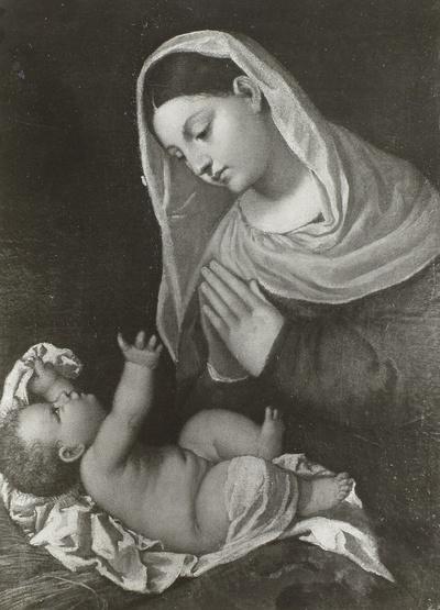 Maria, das Kind anbetend