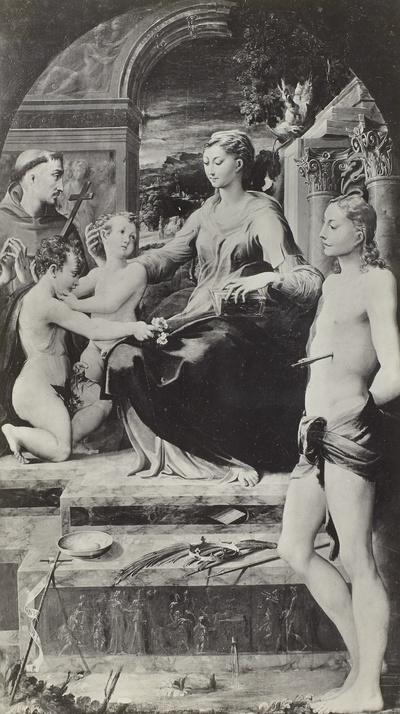 Maria mit dem Kind und Heiligen