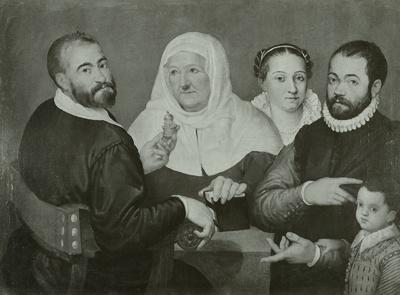 Der Künstler mit seiner Familie