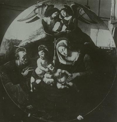 Die Heilige Familie mit zwei Engeln