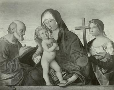 Maria mit dem Kind zwischen Petrus und der hl. Helena