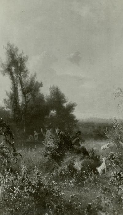 Landschaft mit Pan