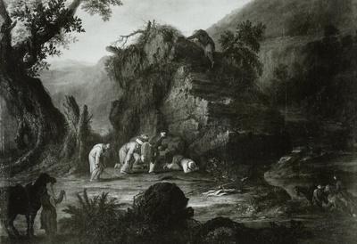 Landschaft mit mohammedanischen Pilgern