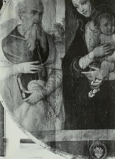 Maria mit dem Kinde zwischen dem hl. Hieronymus und dem hl. Franziskus