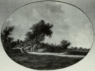 Dorf unter Bäumen