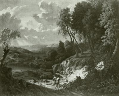 Wald- und Seelandschaft