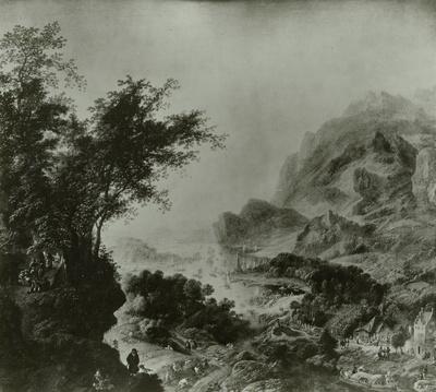 Flußtal und Seebucht mit Leuchtturm