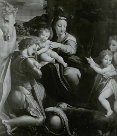 Maria mit dem Kind und dem heiligen Georg
