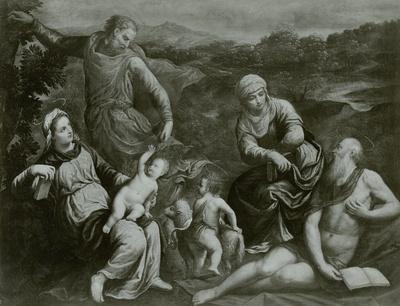 Heilige Familie mit Elisabeth, Hieronymus und dem Johannesknaben