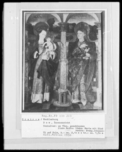 Linker Flügel: Maria und Johannes Evangelista