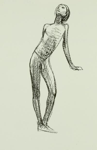 Jünglingsakt (Ganzfigur, nach links gewendet)