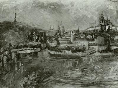 Prag von der Kreuzherrenkirche aus