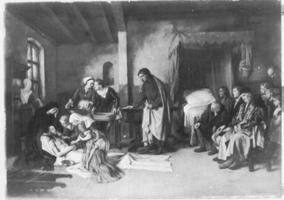 Die heiligen Frauen waschen und pflegen den Leichnam Christi