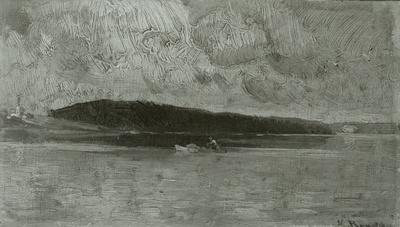 Ruderboot am See