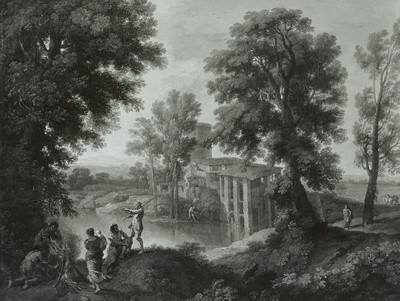 Flußlandschaft bei Tivoli