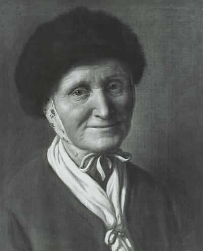 Bildnis einer alten Frau mit Pelzmütze