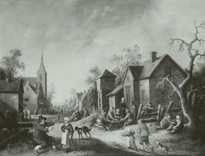 Eine belebte Dorfstraße