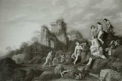 Diana und ihre Nymphen beim Baden