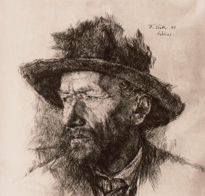 Porträt eines alten Mannes mit Hut