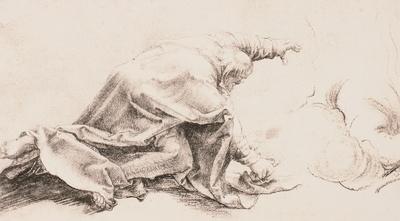 Kniender Apostel Petrus / Niedergestürzter von der Seite gesehen