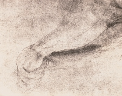 Studie zu den Unterarmen des hl. Sebastian vom Isenheimer Altar