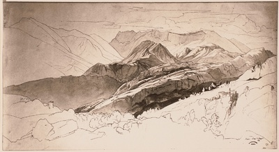 Berglandschaft bei Naco