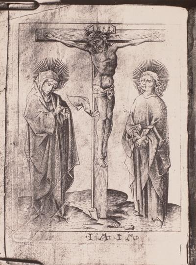 Der Gekreuzigte mit Maria und Johannes