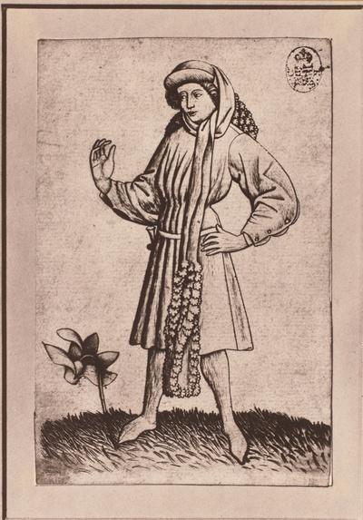 Spielkarte Blumenbube oder -unter (A)