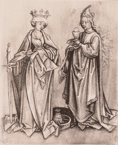 Heilige Katharina und Heilige Barbara