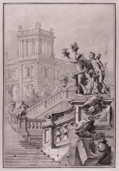 Ideale Palast- und Treppenarchitektur