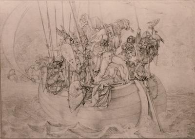 Kaplan wird von den Wikingern in die Fluten geworfen