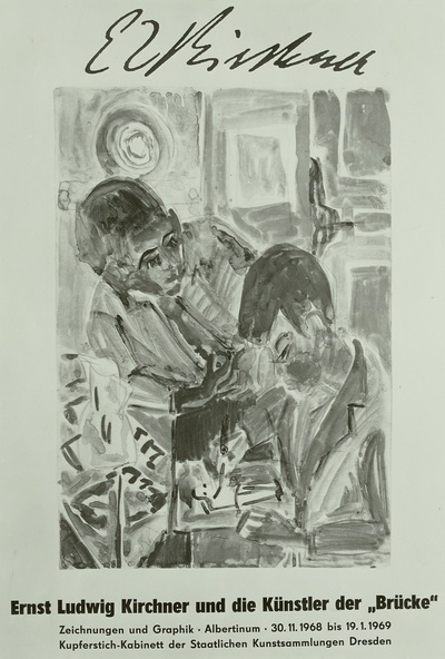 Zeichnende Knaben (Plakat für die Ausstellung)