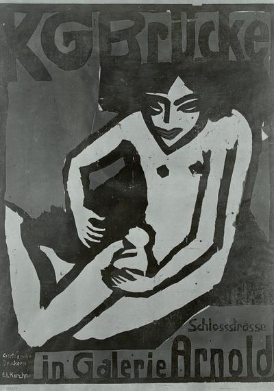 Plakat KG Brücke (in Galerie Arnold)