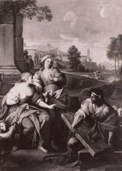 Rahel und Jakob am Brunnen