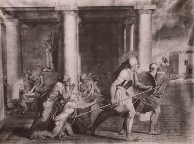 Aufbruch des Eteokles zum Kampf gegen Polineikos (nach Äschylos: Sieben vor Theben)