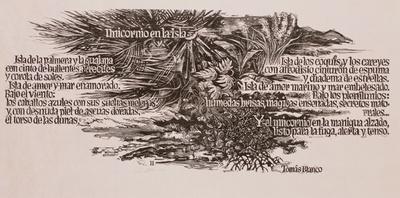 Einhorn auf der Insel von Tomás Blanco