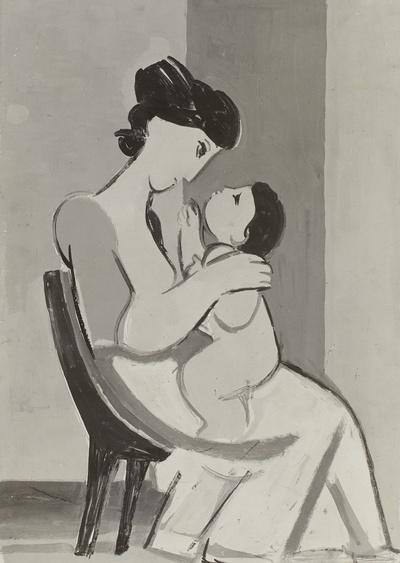 Mutter und Kind im Zwiegespräch