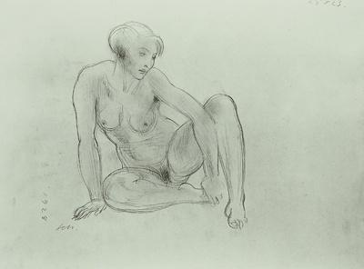 Weiblicher Akt sitzend