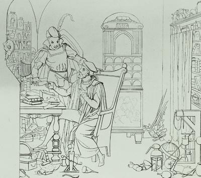 Faust übergibt Mephisto den Vertrag